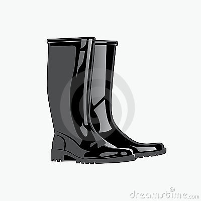 Rainboots. Vector illustration eps.10.