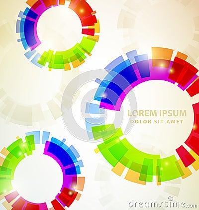 Rainbow Abstract Colorful circles
