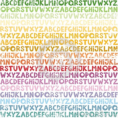 Rainbow alphabet seamless pattern