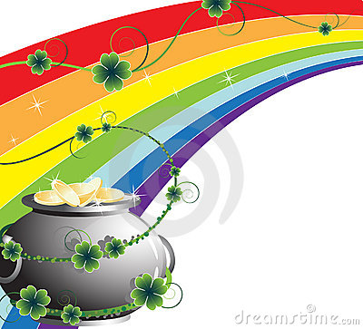 Free Rainbow And Pot With Gold Stock Photos - 18786163