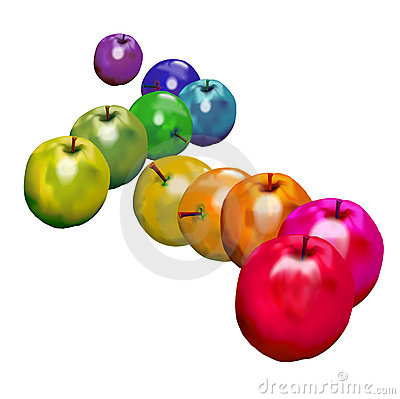 Rainbow Apples