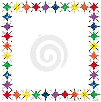 Rainbow Argyle Stars Border