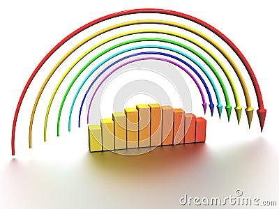 Rainbow of the arrows №2