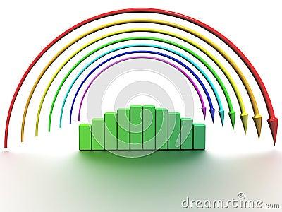Rainbow of the arrows №3