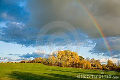 Rainbow in autumn