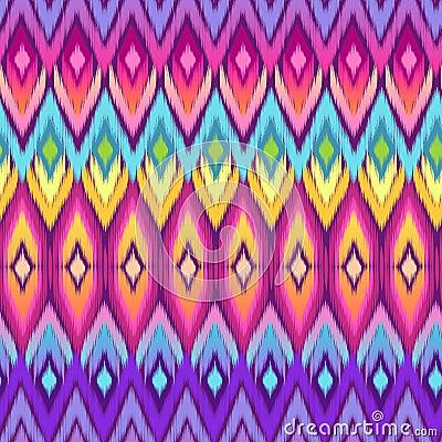 Free Rainbow Aztec Ikat Print Stock Image - 33467751
