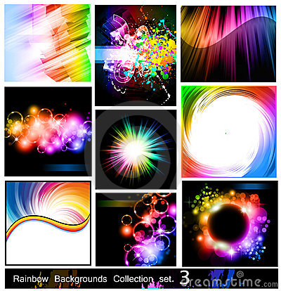 Free Rainbow Backgrounds Collection - Set 3 Stock Images - 18158634