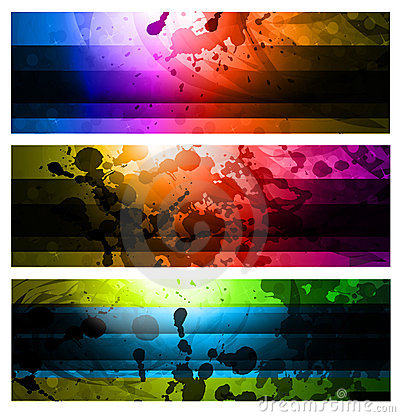 Free Rainbow Backgrounds Set Stock Photography - 18158662