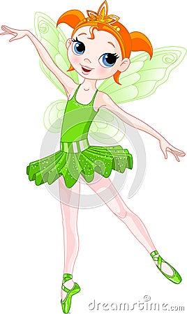 (Rainbow ballerinas series). Green Ballerina