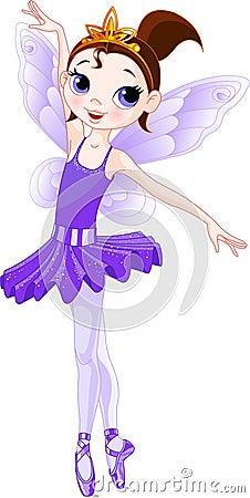 (Rainbow ballerinas series). Violet Ballerina