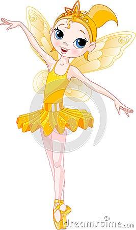 (Rainbow ballerinas series). Yellow Ballerina
