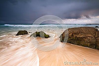 Rainbow bay beach at dawn