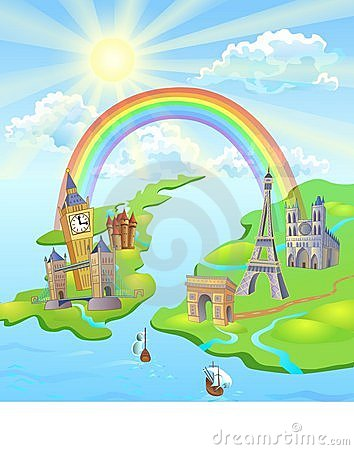 Free Rainbow Between Paris And London Stock Images - 8316464