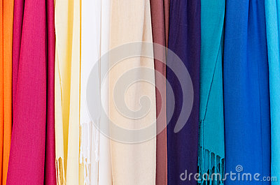 Rainbow of bright cloth