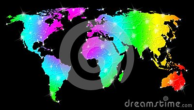 Rainbow Bright World Map