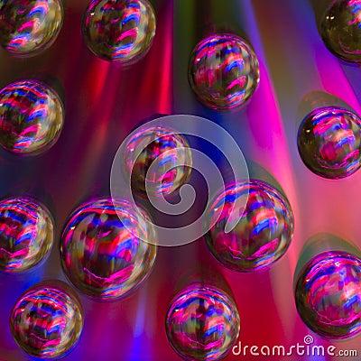 Rainbow bubble on cd
