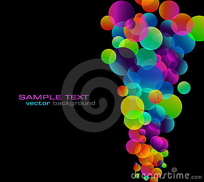 Rainbow Bubbles Background for Elegant Flyers