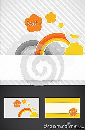 Rainbow business cards