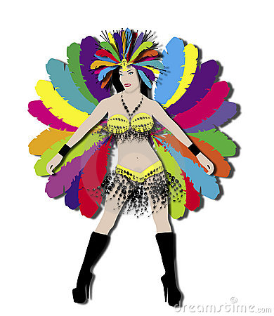 Free Rainbow Carnival Dancer Royalty Free Stock Photo - 4119895