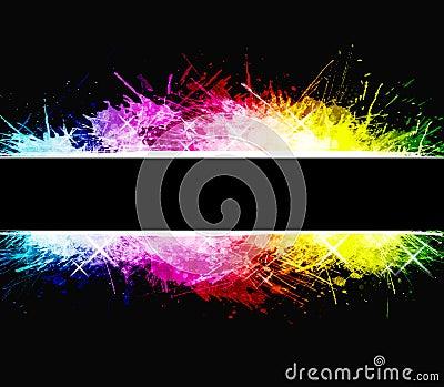 Rainbow celebration watercolor splatter background