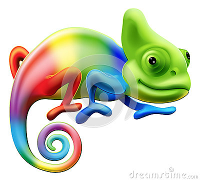 Free Rainbow Chameleon Stock Photos - 28786583