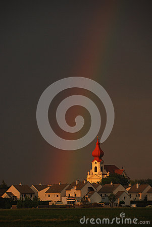 Rainbow church portrait