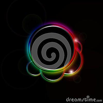 Rainbow circle border