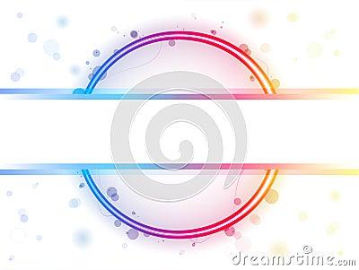 Rainbow Circle Border with Sparkles