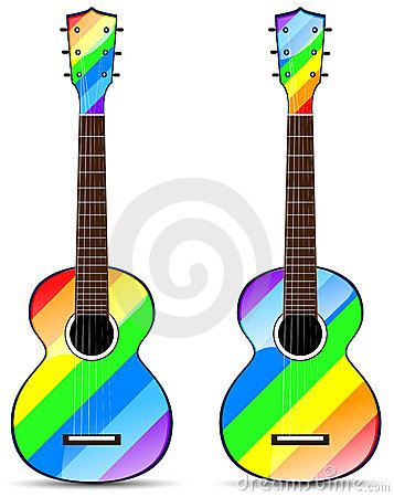 rainbow classical acoustic guitar