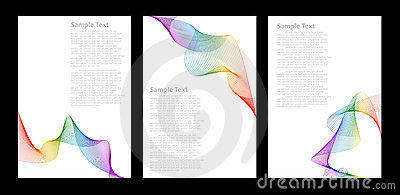 Rainbow color abstract background templates