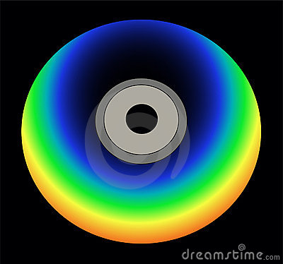 Rainbow color cd