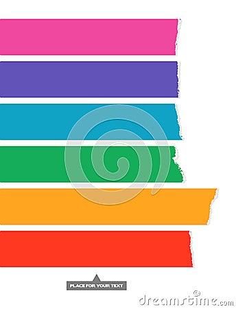 Rainbow color labels