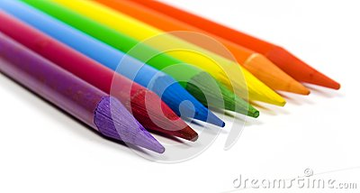 Rainbow from color pencils