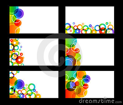 Rainbow colored business cards