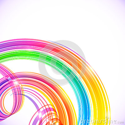 Free Rainbow Colors Abstract Shining Spirals Background Royalty Free Stock Photography - 42867777