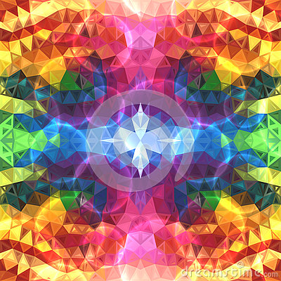 Free Rainbow Colors Abstract Shining Triangles Royalty Free Stock Images - 31537729