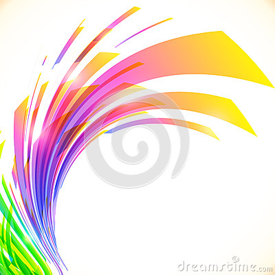 Free Rainbow Colors Abstract Vector Shining Background Royalty Free Stock Images - 42851329