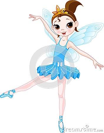 Free (Rainbow Colors Ballerinas Series). Blue Ballerina Royalty Free Stock Photos - 13030048