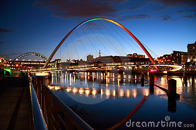 Rainbow Coloured Bridge