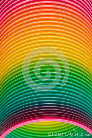 Free Rainbow Colours Of A Plastic Slinky Toy Royalty Free Stock Photography - 32352277