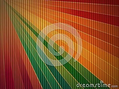 Rainbow corrugated cardboard background