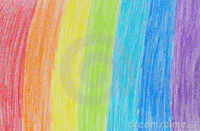 Rainbow crayon drawing