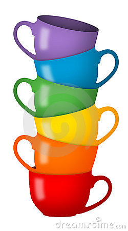 Free Rainbow Cups Stock Images - 19181354