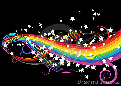 Rainbow curves with stars