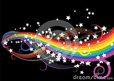 Rainbow curves with stars