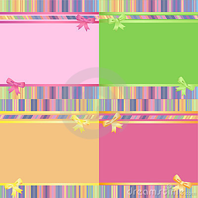 Rainbow decorative striped backgrounds set