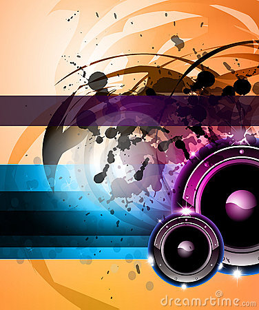 Rainbow Disco Background for Posters or Flyers