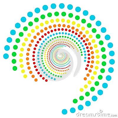 Rainbow dots spiral 2