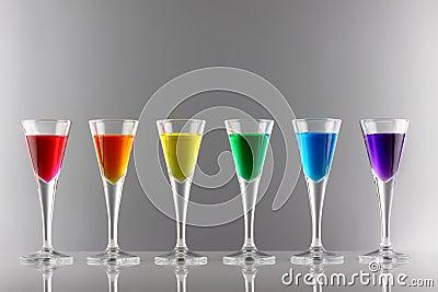 Rainbow drinks I