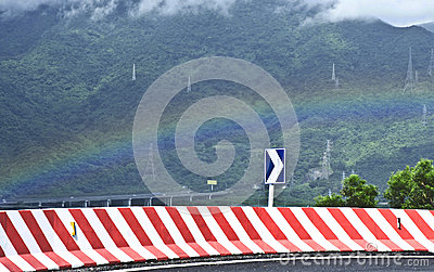 Rainbow and driving direction